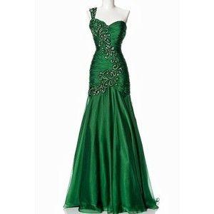 Emerald Green Formal Dress, Green Evening Dress, Chiffon Formal Dress, Shop Evening Dress Miami, Shop Bridal Miami, Shop Prom Dress Miami