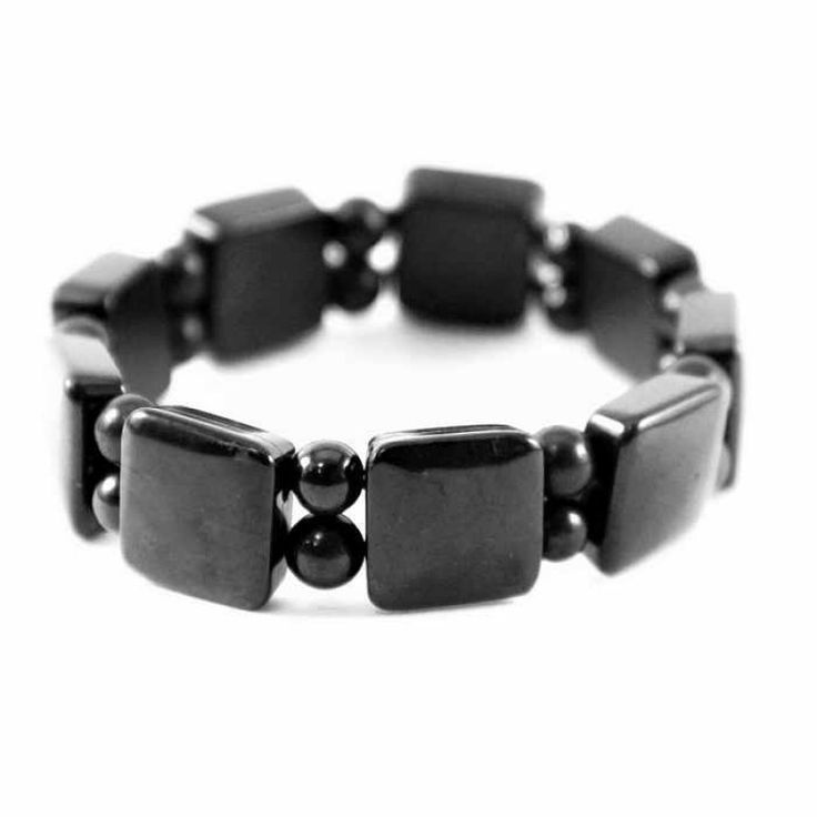 Shungite bracelets with square and ovel beads for comprehensive personal protection and healing $29.90