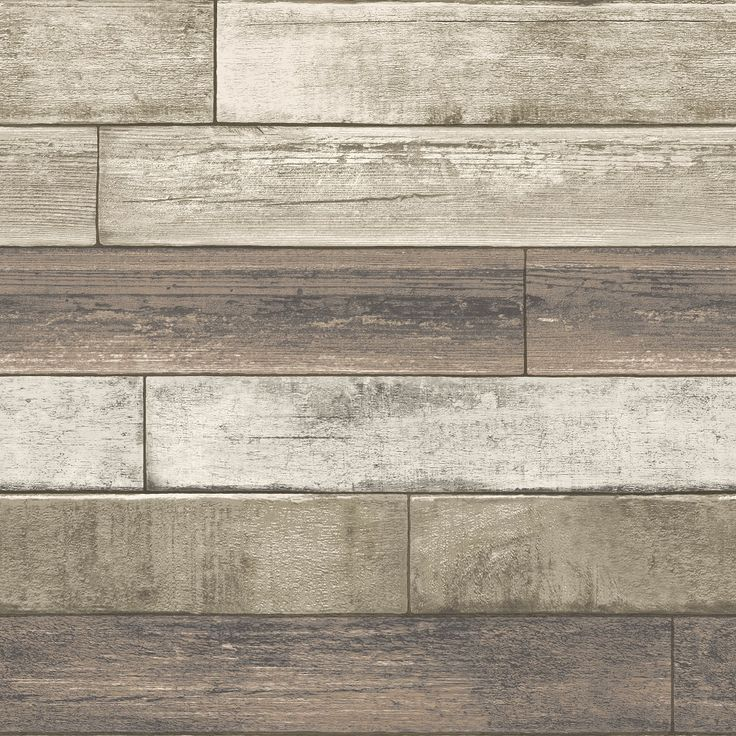 This on trend reclaimed wood plank wallpaper is perfect for creating a fabulous looking rustic wall. Weathered wooden planks with a cream, taupe and brown paint effect. It's paste the wall too, making it quick and easy to hang.