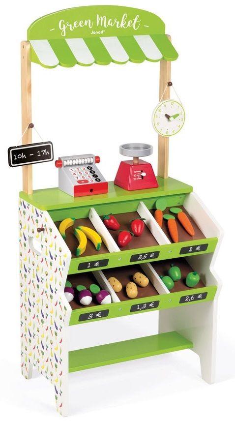 Cena: 499.00zł. Eksresowa wysyłka od ręki. SKLEP DUŻY DREWNIANY Z 33 ELEMENTAMI - WARZYWNIAK... więcej na www.Tublu.pl #tublu #tublu_pl #zabawka #zabawki #dla #dzieci #toy #for #kid #doll #cooking #player #zabawa #w #gotowanie #janod #sklep #stragan #shop #stall