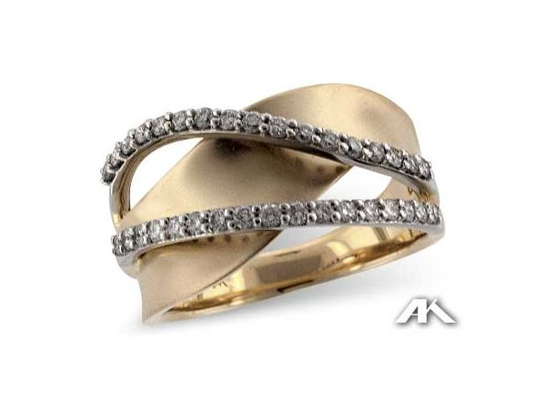 14TTWAVY 2ROW .38TW | Women's Diamond Fashion Rings from Reiniger Jewelers | Swansea, IL