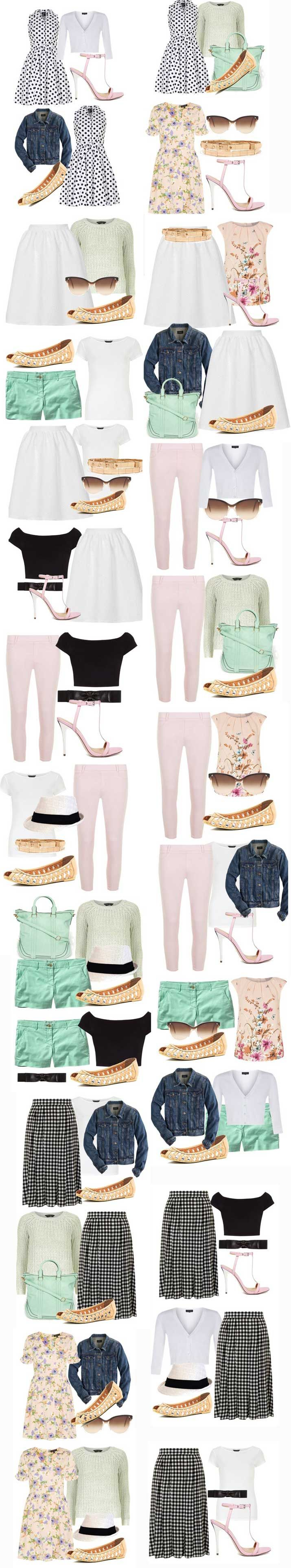 Summer Capsule Wardrobe: create a perfect capsule wardrobe Shoeperwoman