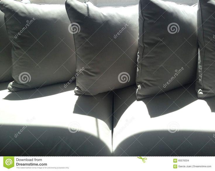 Cushions On Sofa Detail Stock Photo - Image: 65576334