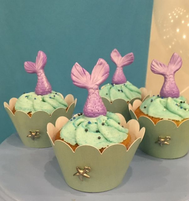 Little Mermaid Cupcakes  Violeta Glace