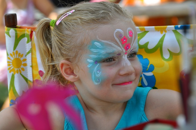Happy to have face painted at The YMCA Children's Village at Kempenfest