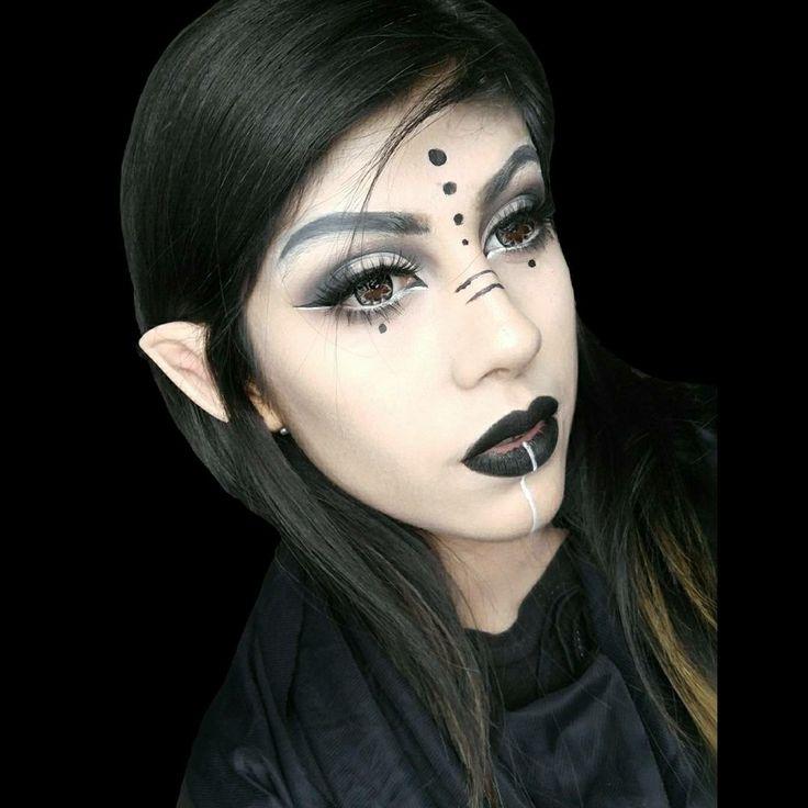Dark Elf Makeup  Details are on Instagram: firepixie_ For a makeup tutorial ➡ FirePixieMakeup #darkelf #darkelfmakeup #makeup #fantasy #fantasymakeup