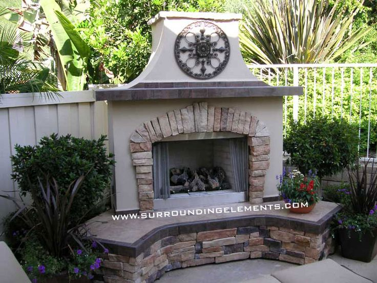 23 best outdoor fireplaces images on pinterest backyard Deck fireplace designs