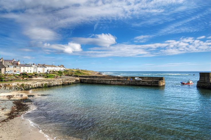 Craster Harbour in Northumberland