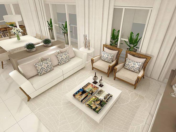 Campo Belo 01: Salas de estar modernas por Patricia Aguiar Arquitetura e Interiores