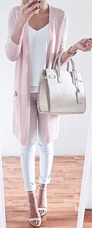 blush pink + white