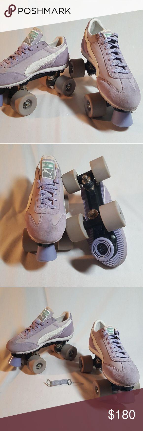 Roller shoes age - Rare Lavender Puma Roller Kitty Roller Skates