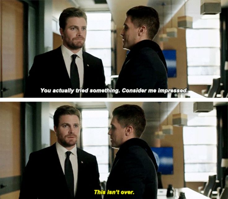 """#Arrow 5x18 """"Disbanded"""" - """"You actually tried somthing. Consider me impressed. This isn't over."""" - #OliverQueen #AdrianChase"""