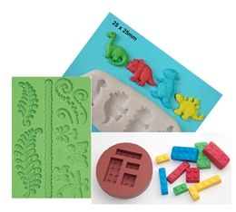 There are endless varieties of stuff you can bake in silicone moulds and that range from cupcakes to full sized cakes.