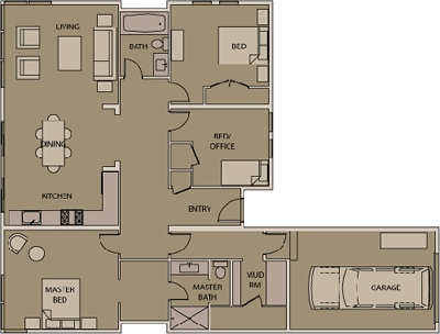 stillwater dwellings (dont like kitchen - dining - living all in one)