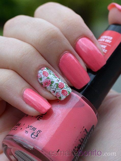 Unhas Decoradas Flores Rosas