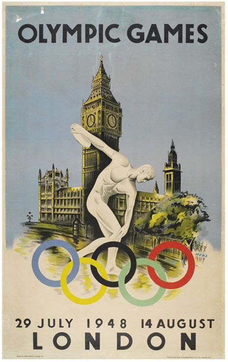 1948 Olympics Games poster - quite different to the 2012 one, but is it better? #London2012
