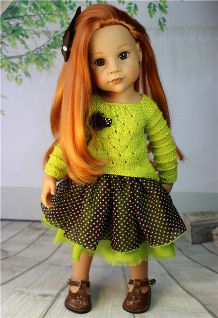 """Комплект для Gotz. """"Мелкий горошек."""" / Одежда для кукол / Шопик. Продать купить куклу / Бэйбики. Куклы фото. Одежда для кукол"""