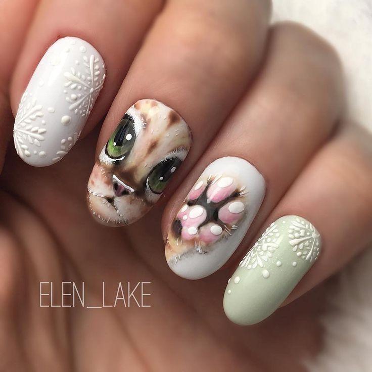 98 best animals nail art ideas images on pinterest animal nail nailartclub photos et vidos instagram winter nail designscat nail designswinter nailswinter nail artsimple prinsesfo Choice Image