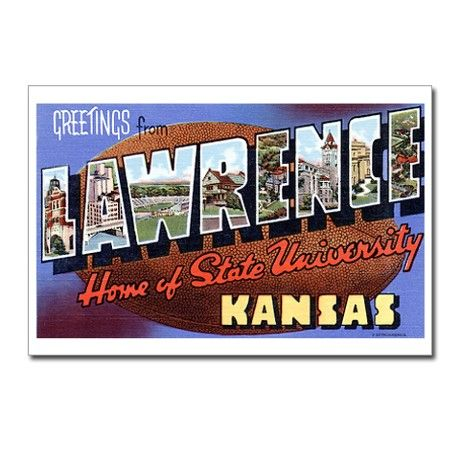 Lawrence Kansas KS Postcards (Package of 8)