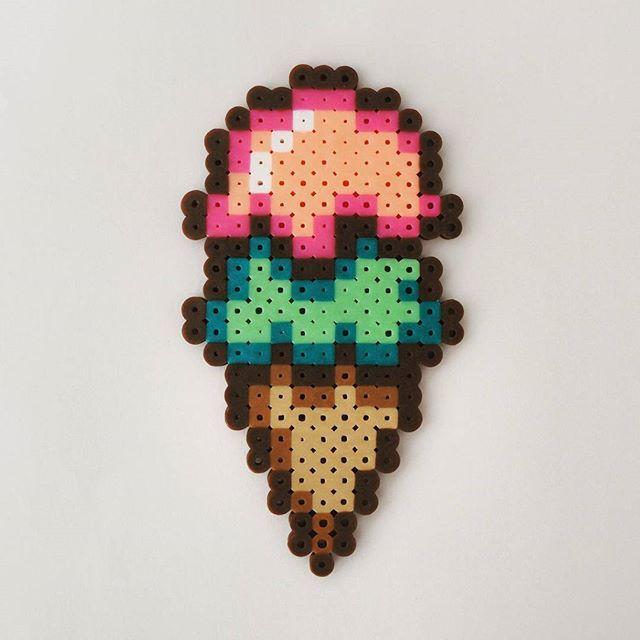 Ice cream hama beads by  perler_artwork                                                                                                                                                      More