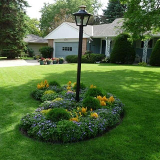94 best island beds images on pinterest landscaping diy for Front yard planting beds