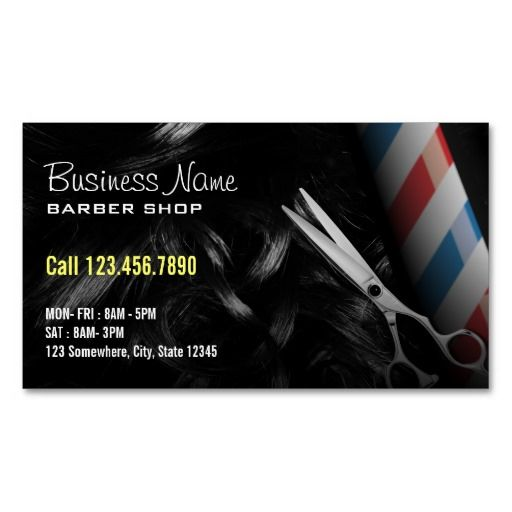 216 best barber business cards images on pinterest barber business silver scissor professional barber business cards wajeb Image collections
