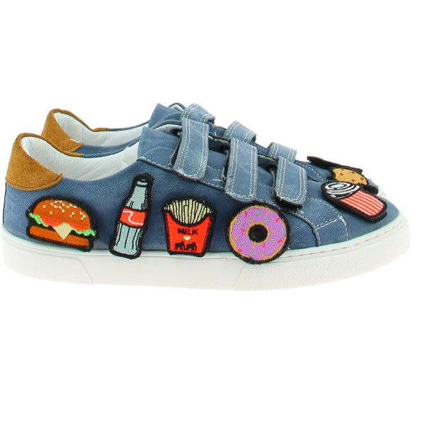 Alex milk on the rocks nyc food - printed canvas sneakers ($179) ❤ liked on Polyvore featuring shoes, sneakers, velcro strap shoes, fleece-lined shoes, canvas trainers, rock sneakers and plimsoll shoes