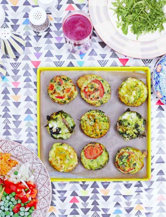 Make Muffin Frittatas! These tasty vegetable muffins are are great for packed lunches and on- the-go breakfasts. Find the recipe in our book The Art of Eating Well.