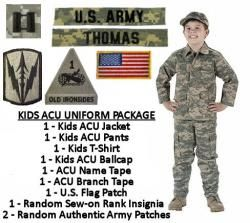 kidu0027s army acu military uniform package kids army halloween costume with authentic military patches and