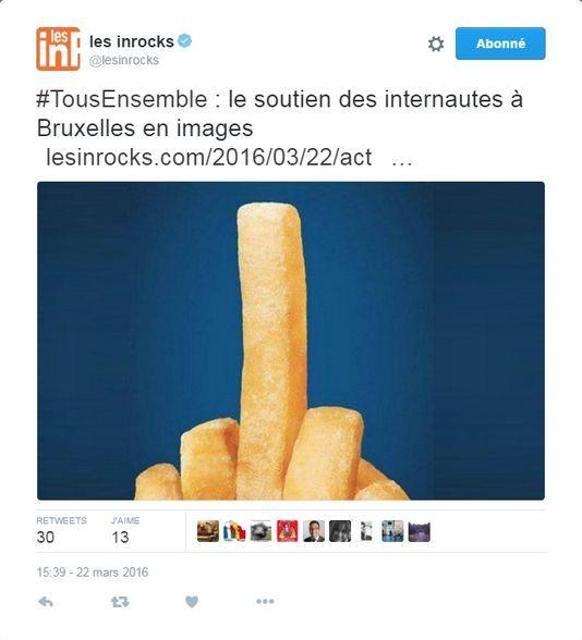 Bruxelles : le «doigt d'honneur» en frites, une image issue... d'une publicité