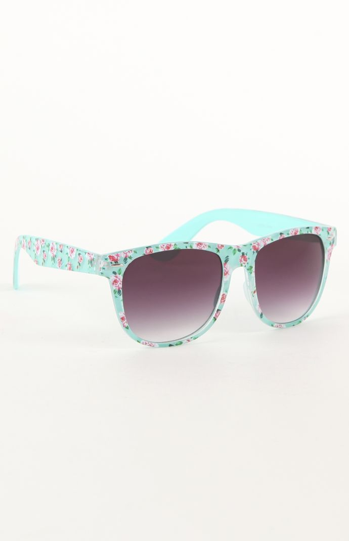 With Love From CA Mint Floral Sunglasses #pacsun