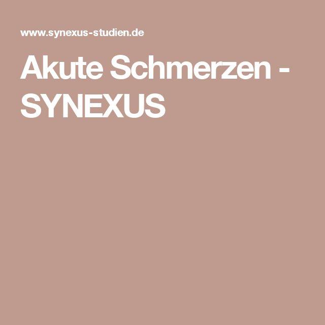 Akute Schmerzen - SYNEXUS