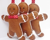 gingerbread men felties that look good enough to eat..
