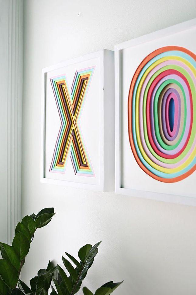 Use layers of foam to make bright wall art.