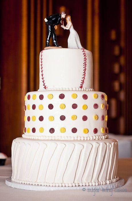 Softball Wedding Cake