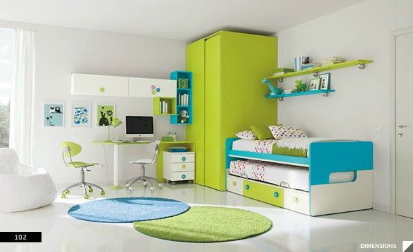 Image Detail for - ... bunk bed space design with round rug - ColombiniCasa kids room designs
