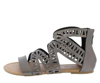 PEWTER WOMEN'S SANDAL Great Stylish Casual Sandals For The Spring/Summer Man made materials. Delivery Can Take Up To 1-2 Weeks