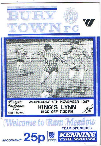 Away to Bury Town FC   4/11/1987