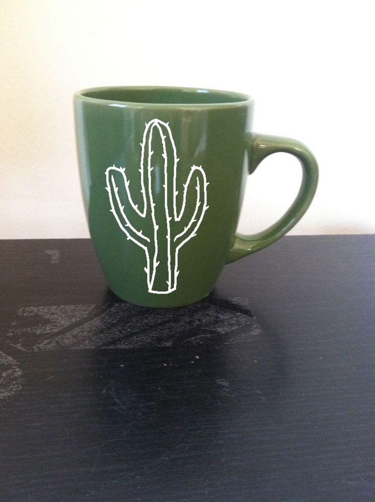 Cactus Mug, Saguaro Mug, Desert Plants, Cactus Coffee Mug by CrassandSass on Etsy https://www.etsy.com/uk/listing/246060611/cactus-mug-saguaro-mug-desert-plants