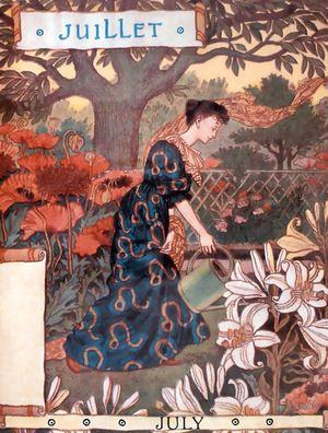 Belle Jardiniere Calendar Juillet  Eugene Grasset