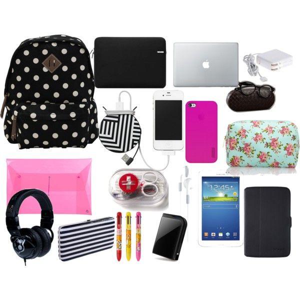 """""""backpack essentials"""" by styleace-mlv on Polyvore"""