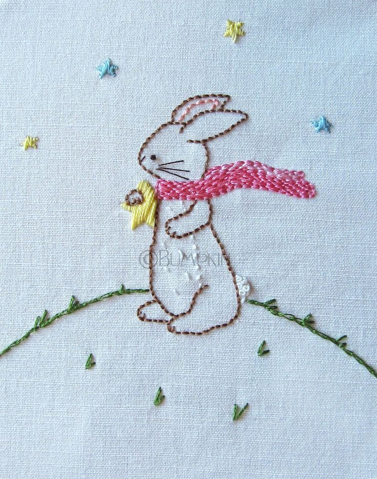 Hand Embroidery PDF Pattern  Reach for the Stars  Bunny by Bumpkin, €5.00