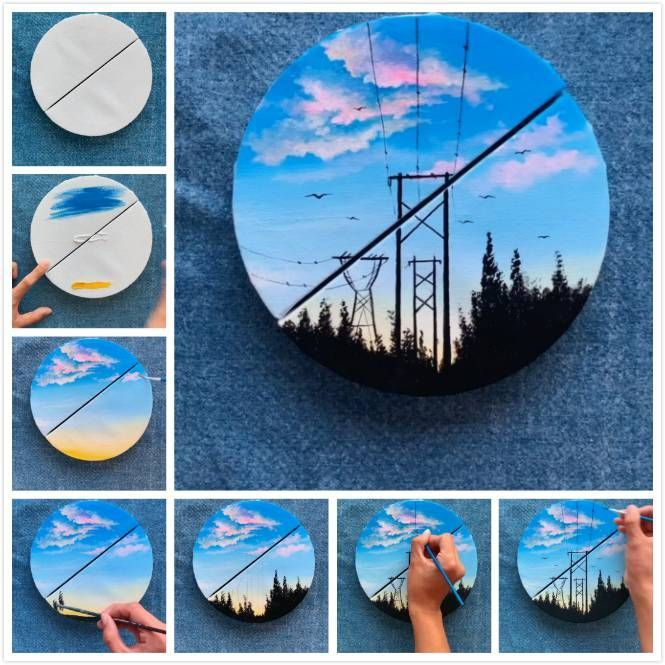 10 Easy Diy Painting For Home Decor Easy Home Decorating Diy Painting Easy Flower Painting Digital Art Beginner