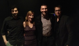Last night's Next Chapter authors, Frank Lesser, Lisa Kirchner, Mark Sam Rosenthal and Brad Lawrence. At Le Poisson Rouge.