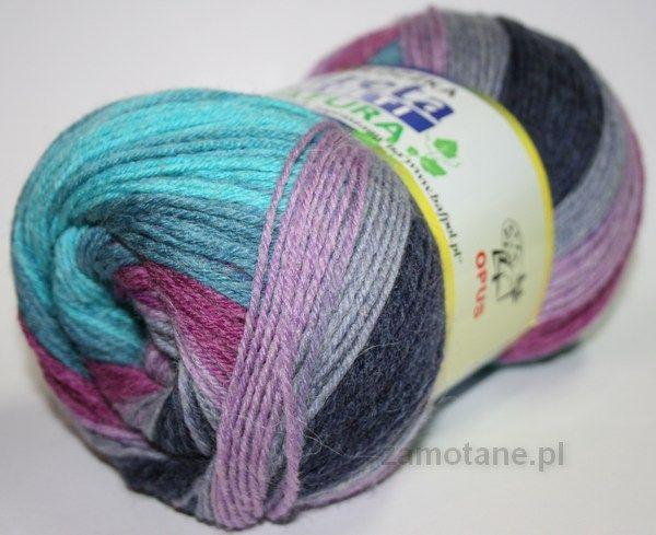 Greta Multi (kolor: wrzos, fiolet, śliwka, turkus, dżinsowy, nr 338) zamotane.pl - NA CHUSTĘ