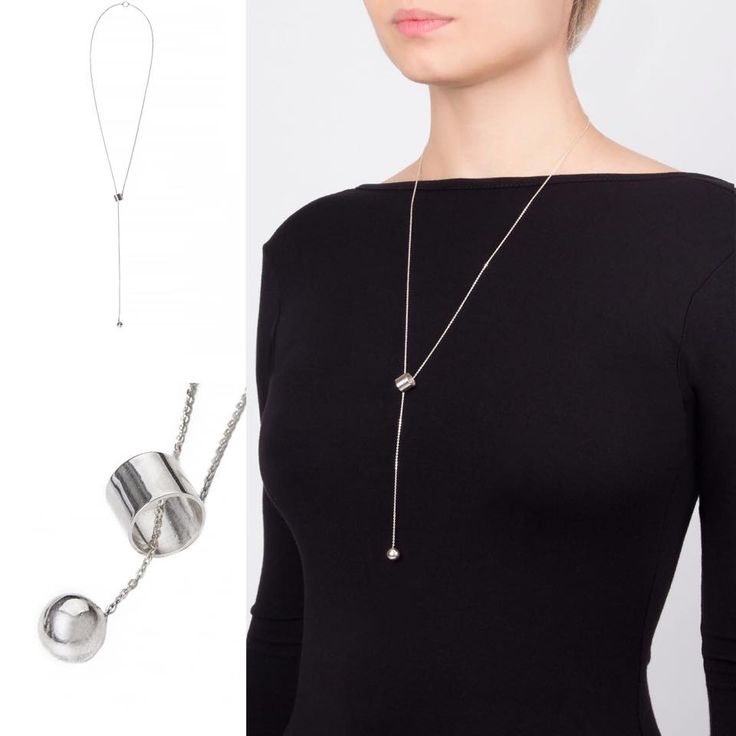 Ball and cup silver nekclace #snob #snobdot