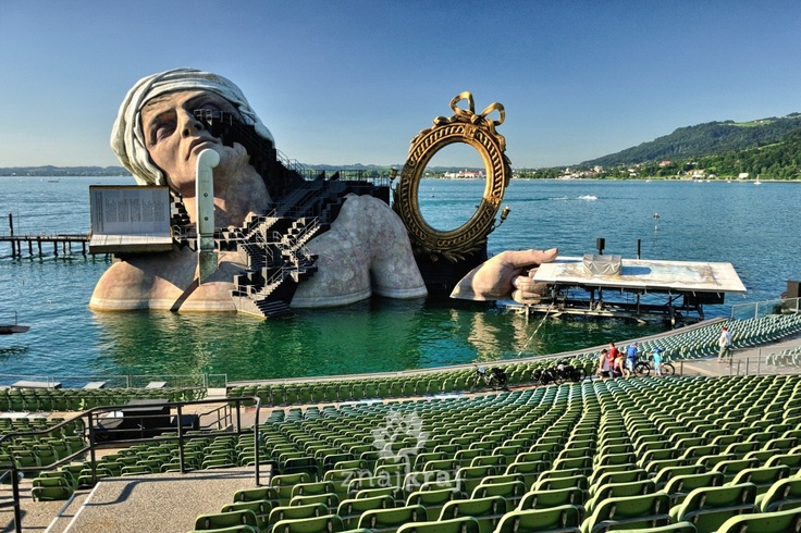 Opera in Bregenz, at Lake Constance, Austria