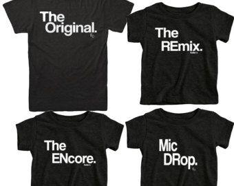 Fathers Day Gift Matching Family Shirts Original and Remix