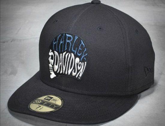 skull helmet 59fifty fitted baseball cap by harley