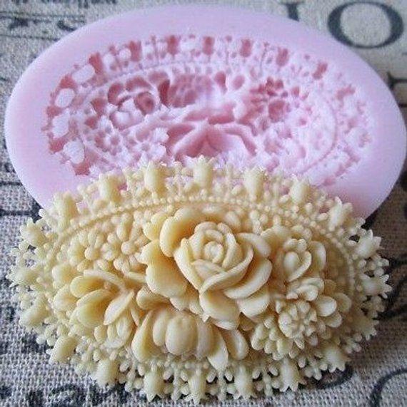 Cake Decorating Mould Silicone Rose Flower Cameo Shapes Fondant Mold Sugar Craft